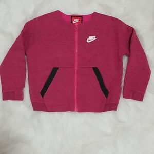 🐘3/$30 Nike zip sweater jacket pockets 6m (5-6Y)